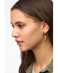 Noir Jewelry - Metallic Hook Frontback Earring - Lyst