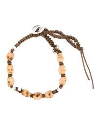 Chan Luu - Brown Skull Beaded Bracelet for Men - Lyst