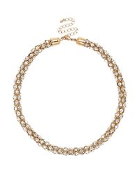 River Island | Metallic Gold Tone Embellished Rope Necklace | Lyst