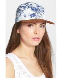 Steve Madden | Blue Floral Print Baseball Cap | Lyst