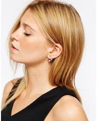 ASOS - Metallic Mini Stars Swing Earrings - Lyst