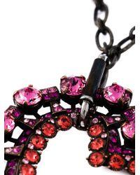 Lanvin | Black Heart Pendant Necklace | Lyst