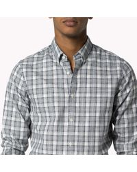 Tommy Hilfiger | Blue Cotton Check Slim Fit Shirt for Men | Lyst