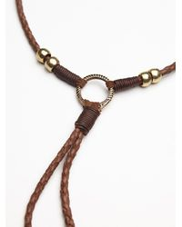 Free People - Brown Womens Lawless Leather Bolo - Lyst