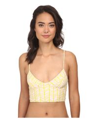 Tori Praver Swimwear | Yellow Jess Half Crop Top | Lyst