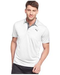 PUMA | White Solid Performance Polo for Men | Lyst