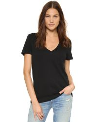 Madewell | Black Slub Pocket Tee - Optic White | Lyst