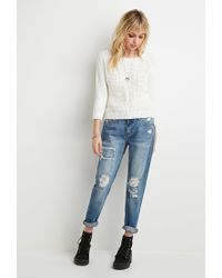 Forever 21 - Natural Textured Raglan Sweater - Lyst