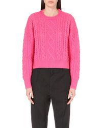 Étoile Isabel Marant | Pink Newlyn Cable-knit Jumper | Lyst