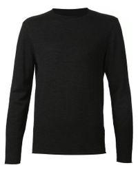 Transit - Black Crew Neck Sweater for Men - Lyst