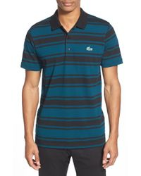 Lacoste | Black 'sport T1 Super Light' Stripe Ultra Dry Performance Polo for Men | Lyst