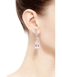 Gioia | Pink Kunzite Drop Earrings | Lyst
