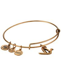 ALEX AND ANI | Metallic Sacred Dove Charm Bangle | Lyst