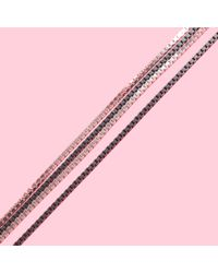 MZ Wallace - Metallic Saskia Diez Very Long Fade Loop Silver Necklace - Lyst