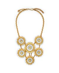 Alexander McQueen | Metallic Floral Gear Necklace | Lyst