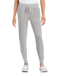 Calvin Klein | Gray Striped Knit Jogger Pants | Lyst