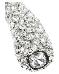 Kenneth Jay Lane | Metallic Rhodium-Plated Crystal Necklace | Lyst