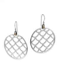 John Hardy | Metallic Naga Gold Silver Large Round Earrings | Lyst
