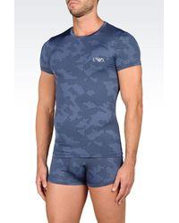 Emporio Armani | Blue Undershirt for Men | Lyst