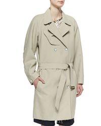 Rag & Bone - Gray Woven Cotton-Blend Port Coat - Lyst