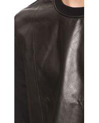 BLK DNM - Black Leather Sweatshirt 20 for Men - Lyst