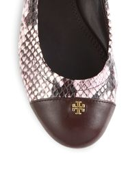 Tory Burch - Black York Leather Ballet Flats - Lyst