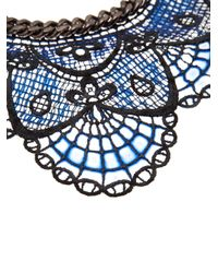 Annelise Michelson - Blue Silicon Lace Necklace - Lyst