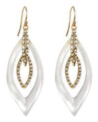 Alexis Bittar | Metallic Jardin Mystere Lucite & Crystal Earrings | Lyst