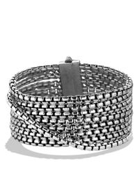 David Yurman | Metallic Box Chain Eightrow Bracelet | Lyst