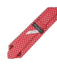 Ferragamo | Gancini Flower Silk Tie Red for Men | Lyst