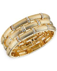 2028 | Metallic Gold-Tone Bamboo Stretch Bracelet | Lyst
