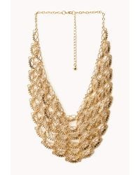 Forever 21 | Metallic Classic Pointed Bib Necklace | Lyst