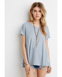 Forever 21 | Blue Slub Knit Swing Top | Lyst