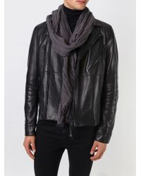 DIESEL - Gray Pleated Scarf for Men - Lyst