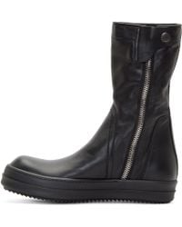 Rick Owens - Black Leather Basket Creepers for Men - Lyst
