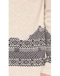 Band of Outsiders - Natural Broken Fair Isle Sweater for Men - Lyst
