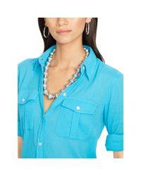 Ralph Lauren | Metallic Graduated-beads Necklace | Lyst