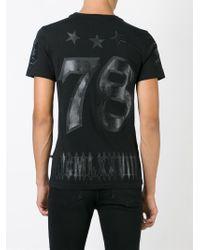 Philipp Plein - Black 'fighter' T-shirt for Men - Lyst