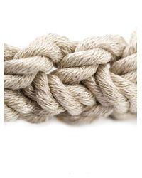 1-100 - Natural Woven Rope Bracelet - Lyst