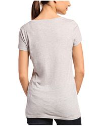 BOSS Orange Gray Slim-fit T-shirt 'tafame' In Cotton Blend