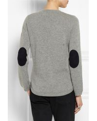 Chinti & Parker - Gray Elbow Patch Cashmere Sweater - Lyst