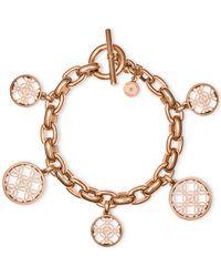 Michael Kors | Pink Open Disk Charm Bracelet | Lyst
