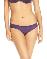 Le Mystere | Purple 'safari' Lace Trim Bikini | Lyst