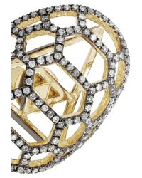 Venyx - Metallic Tortuga 9-Karat Gold Diamond Earrings - Lyst