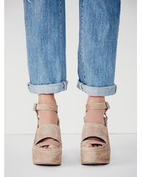 Free People - Natural Fp Collection Womens Monte Carlo Platform Wedg - Lyst