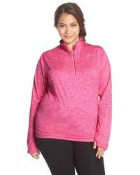 Nike - Purple 'element' Dri-fit Half Zip Running Top - Lyst