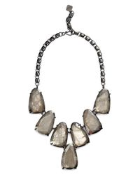 Kendra Scott Metallic 'harlow' Necklace - Gunmetal/ Mirror Rock Crystal