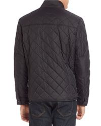 Cole Haan | Black Diamond-quilted Jacket for Men | Lyst