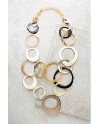 Anthropologie | Metallic Horn Swirl Necklace | Lyst