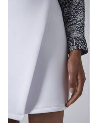 TOPSHOP - White Clean Wrap Scuba Skirt - Lyst